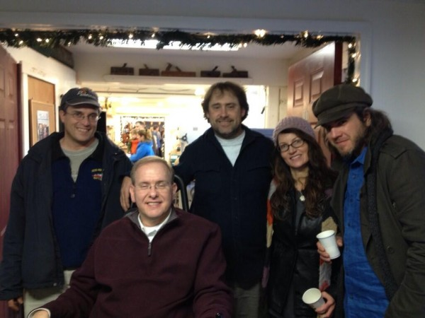 From left to right: Tom Sgouros, Jim Langevin, Bob Plain, Kristin Howard, some guy from New York. (Photo by Seth Klaiman)